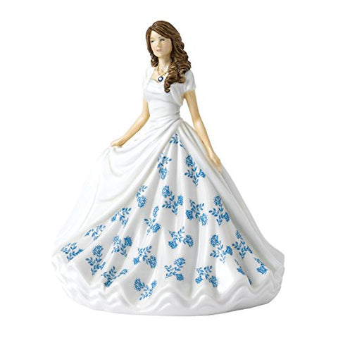Royal Doulton September Birthstone Figurine, Saphire, 17cm HN5905