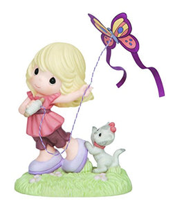 Precious Moments 143024 Girl Flying Kite Figurine