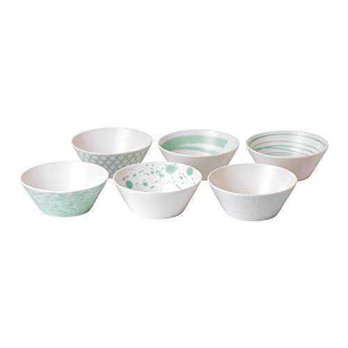 Royal Doulton 1052177 Pacific Bowls 16cm Mixed, Set of 6, Porcelain, 640 milliliters