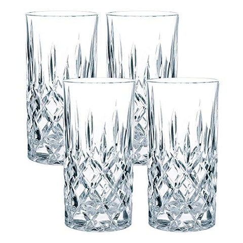 Nachtmann Noblesse 4 Long Drink Glasses Crystal