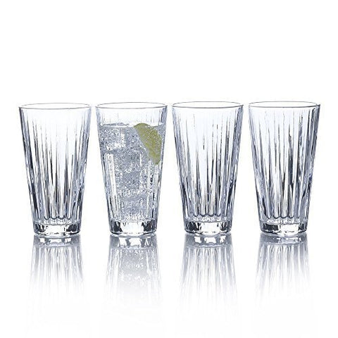 Mikasa Revel Highball Glasses, 14-1/2-Ounce, Set of 4 by Mikasa