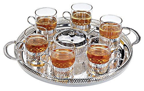 Queen Anne Tea Set 8 Piece 6 Cups & Sugar Bowl & Tray