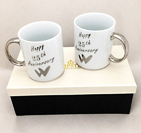 25TH ANNIVERSARY MUG PAIR