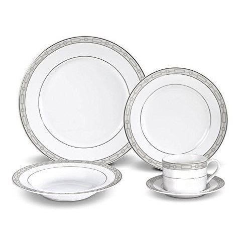 Layton Platinum 40 Piece Dinnerware Set, Service for 8 People