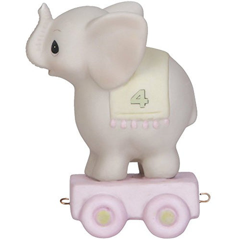 Precious Moments 142024 Birthday Gifts, May Your Birthday Be Gigantic, Birthday Train Age 4, Bisque Porcelain Figurine