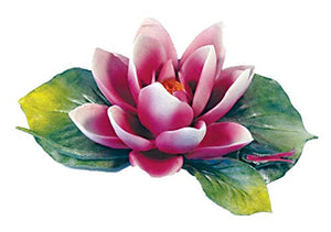 Water Lily (Pink) Porcelain Flower Hand Made in Italy