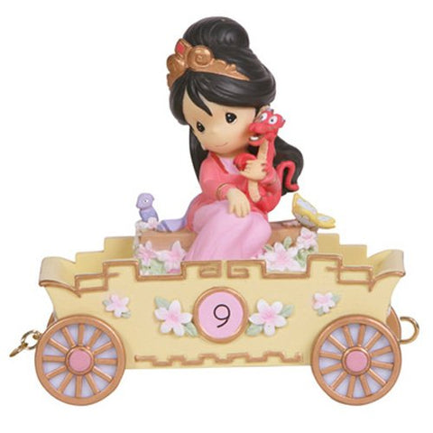 Precious Moments Disney Show Case Collection Collectible Figurine, Nine is Divine Mulan