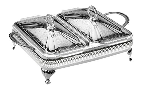 Queen Anne – Casserole Dbl & Cover, Silver Plated, Made in England