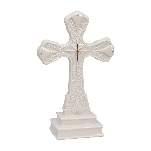 Mikasa Holiday Splendor Standing Porcelain Cross with Gift Box, 8-Inch