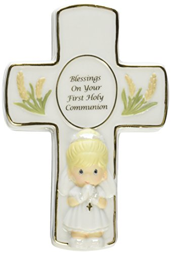 Precious Moments Blessings on Your First Holy Communion Covered Box with Rosary Girl Figurine