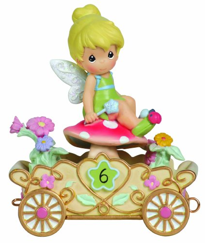 Precious Moments 104408 Disney Showcase Collection, Birthday Gifts, Have A Fairy Happy Birthday, Disney Birthday Parade, Age 6, Resin Figurine