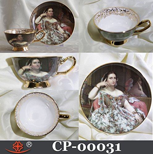 Cup & Saucer Bone China MADEME MOITESSIER Art Year 1856