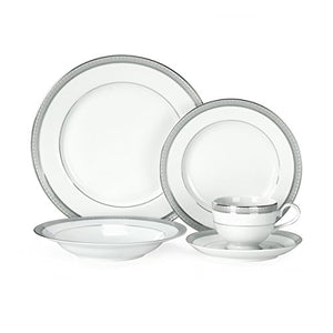 Platinum Crown 40-Piece Dinnerware Set, Service for 8 People #5224199