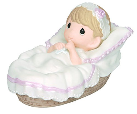 Precious Moments 143011 Baptism Gifts, Baptized in His Name, Girl, Bisque Porcelain Figurine