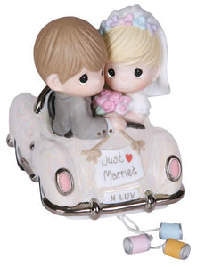 Precious Moments 103018 Wedding Gifts, Just Married, Bisque Porcelain Figurine