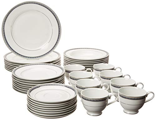 Mikasa Platinum Crown Cobalt 40-Piece Dinnerware Set, 5224200 Service for 8