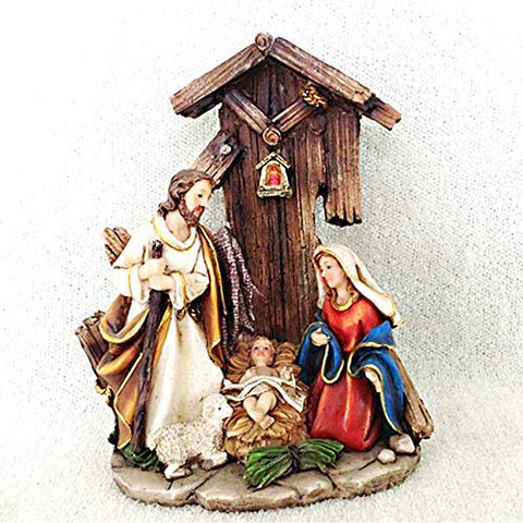 "Nativity in Stable 6.3"" Tall"