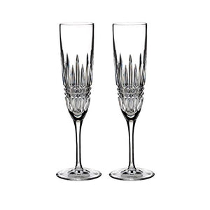 Waterford Lismore Diamond Flute, Pair - 160020 (PH#shop_freely GK9345456668084