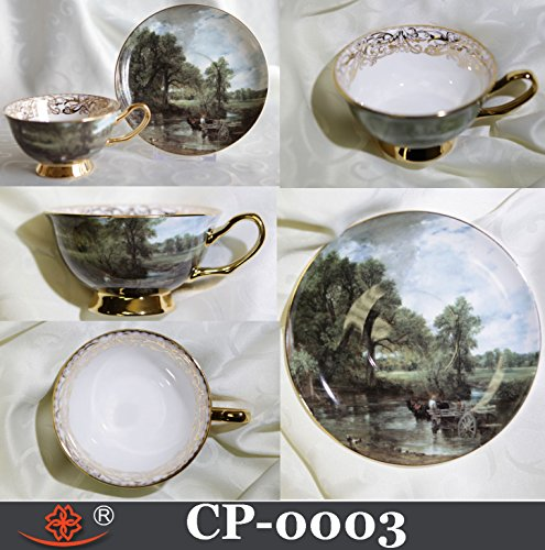 Cup & Saucer Bone China The HAY WAIN Art by John Constable Made in Canada