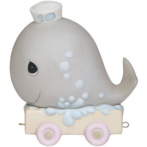 Precious Moments 142030 Birthday Gifts, May Your Birthday Be Mammoth, Birthday Train Age 10, Bisque Porcelain Figurine