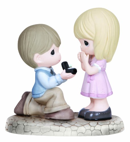 Precious Moments Figurine, Boy Proposing to Girl
