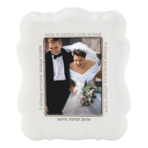 Lenox Opal Innocence Frame for 5 by 7-Inch Photo