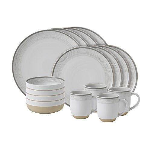 Royal Doulton Brushed Glaze White 16 Piece Dinner Set 36.2 x 27.8 x 30.6 cm