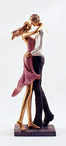 "Embrace Couple Ceramic Statuette 19"" Tall"