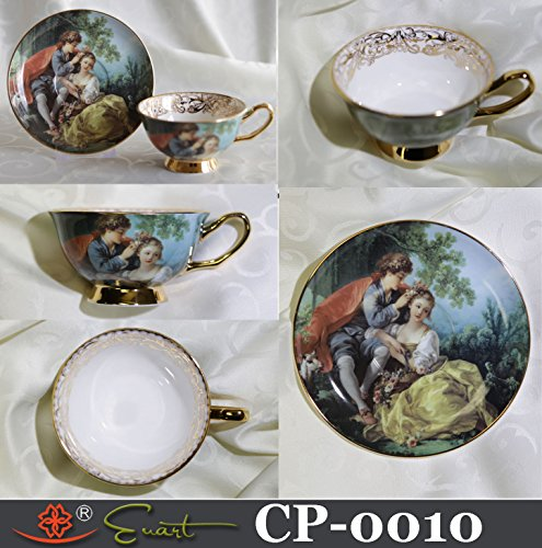Victorian Cup & Saucer World Famous Art Collection Made of Bone China