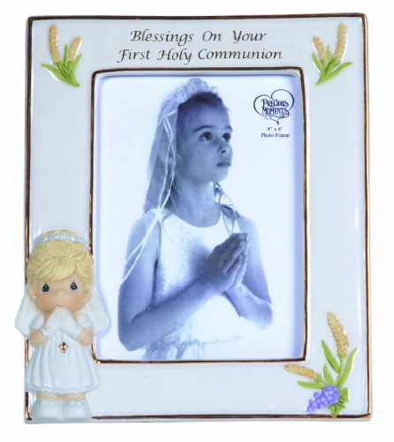 Precious Moments Blessings on Your First Holy Communion Frame Girl Figurine