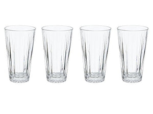 Mikasa Revel Double Old-Fashioned Glasses, 12-Ounce, Set of 4