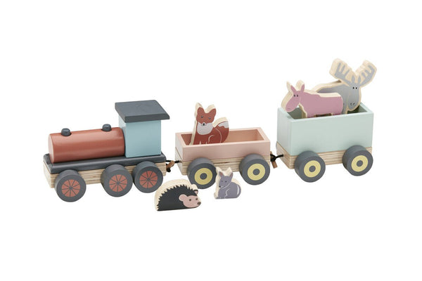 Animal  Train Wooden Toy - Daily Mind