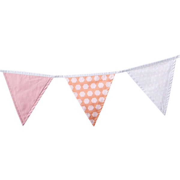 Bunting Pink - Kids Deco - 100% Cotton - Daily Mind