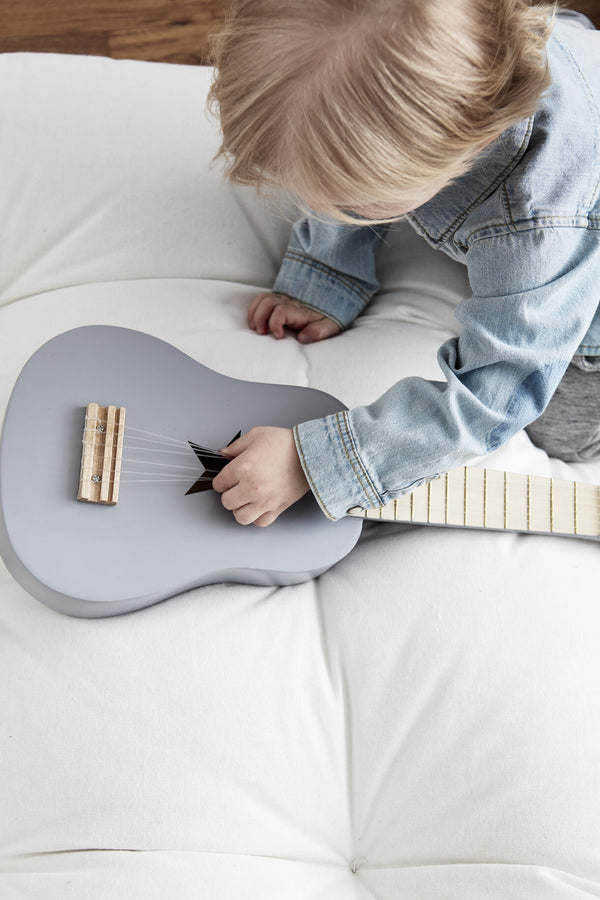 Guitar Grey Wooden Toy - Daily Mind