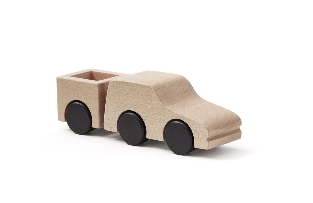 Car Pickup - Natural Wooden Toy in 100% Cotton Bag - Daily Mind