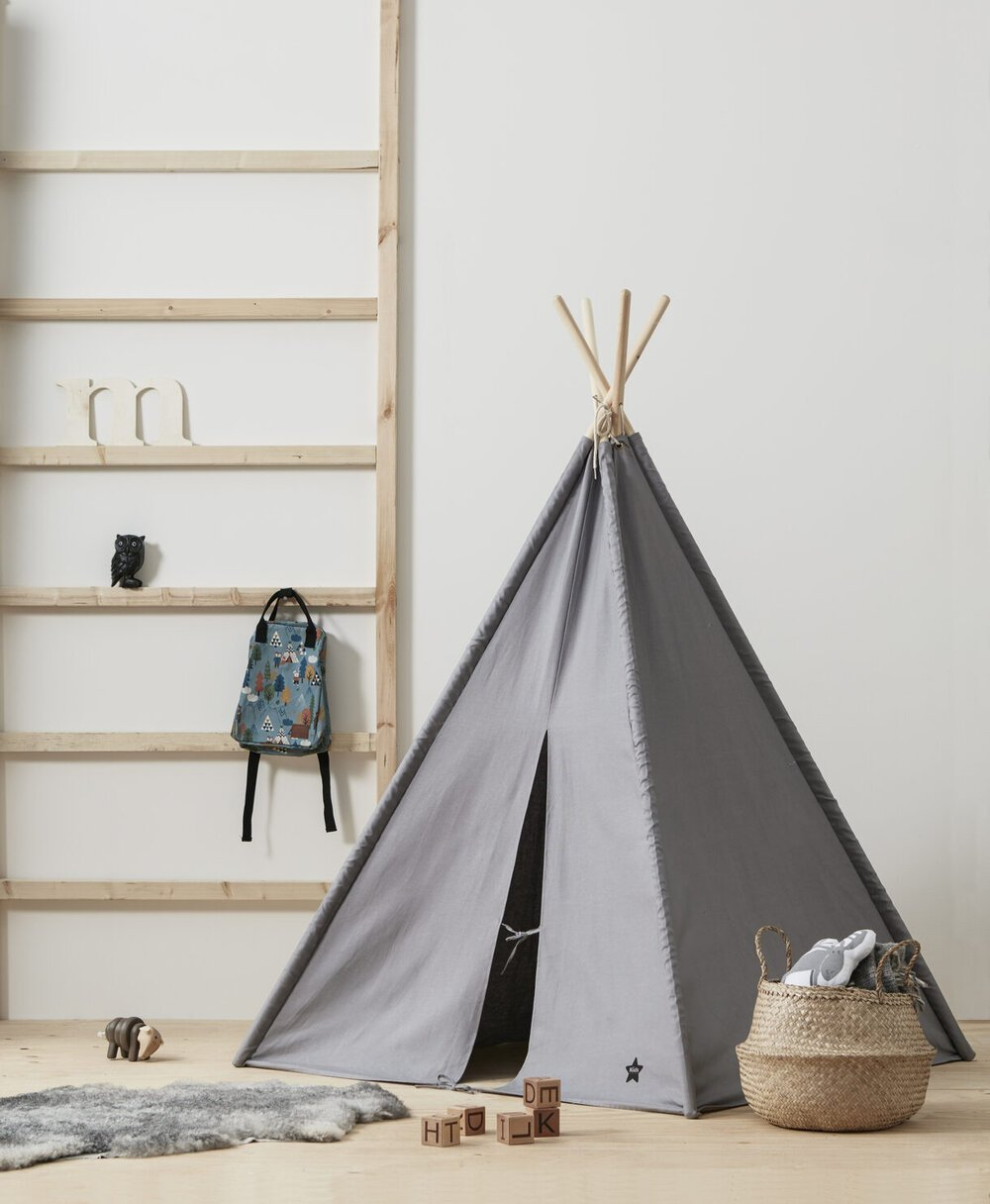 Big Tipi Tent Grey - Cotton & Bamboo - Daily Mind
