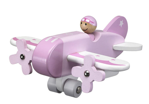 Airplane Pink  Wooden Toy - Daily Mind