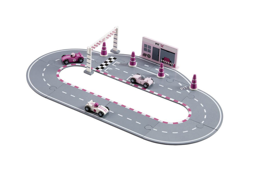 Racing Car Pink Set- Wooden Toy - Daily Mind