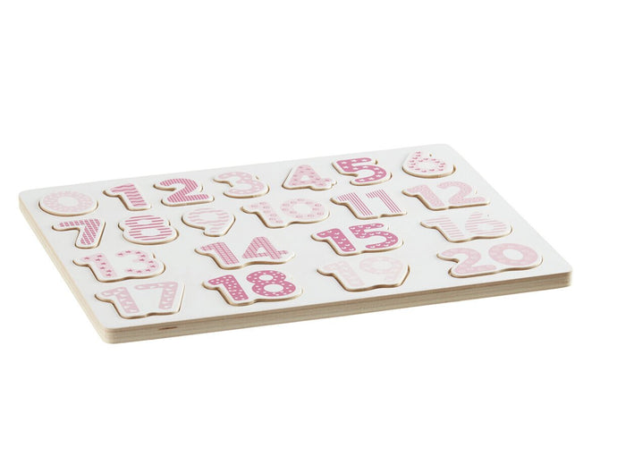 Puzzle Number Pink 1 to 20 - Daily Mind