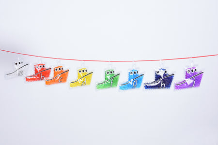 Rainbow Gel Alphabet Boats -Pack of 26 - Daily Mind