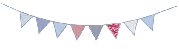 Bunting Blue - Kids Deco - 100% Cotton - Daily Mind