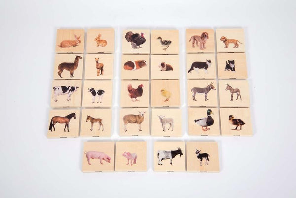 Domestic Animal Family Match - Wooden Pack of 28 - Daily Mind