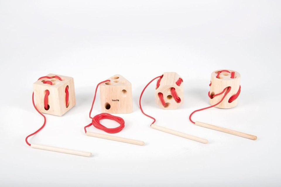 Wooden Lacing Shapes - Pk4 - Daily Mind