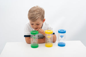 TickIt - Clear View Magnifying Sand Timer Set - 1, 3 & 5 Minutes - Daily Mind