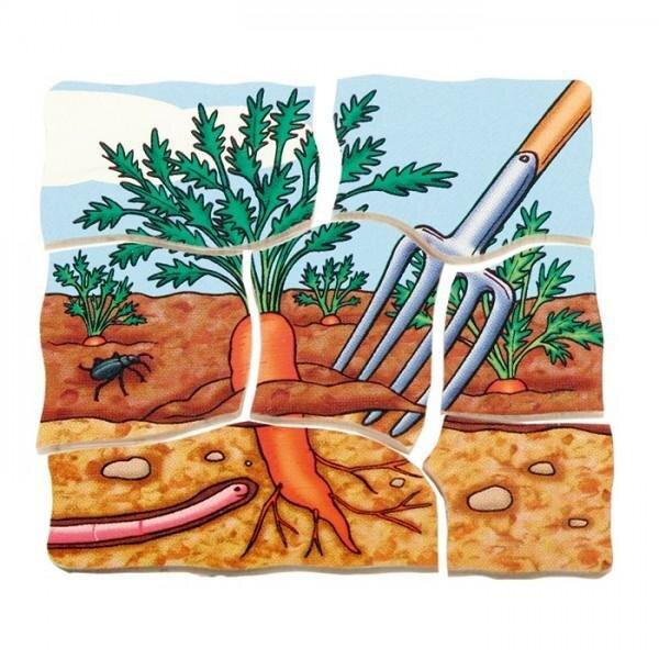 Carrot Wooden Puzzle 30 Pieces 1 in 5 Layer - Daily Mind