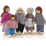 Mini wooden family for doll house - 6 pieces - Daily Mind