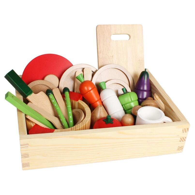 Wooden Vegetable Cooking Set - Daily Mind
