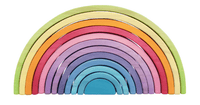 Big Stackable 12 Pieces Wooden Rainbow - Daily Mind