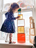 Stacking Rainbow Pyramid Wooden Blocks - Daily Mind