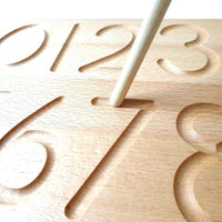 Number Tracing 0-9 Wooden Board - Daily Mind